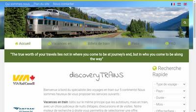 Site internet de Discovery Trains