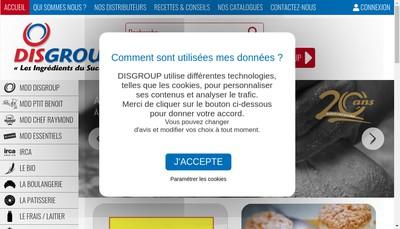 Site internet de Disgroup Ouest