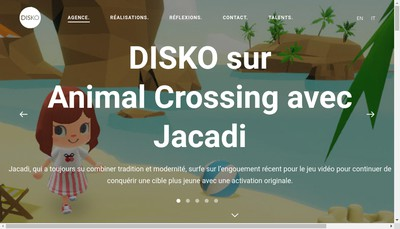 Site internet de Disko
