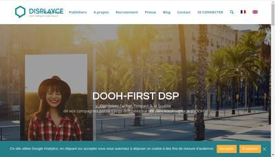 Site internet de Displayce