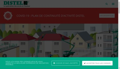 Site internet de Distel