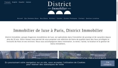 Site internet de District Immobilier