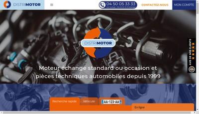 Site internet de Distrimotor