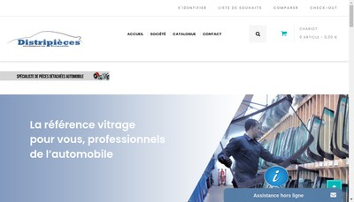 Site internet de Distripieces Normandie