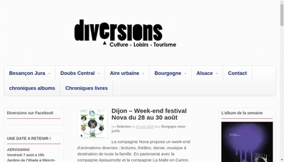 Site internet de Diversions