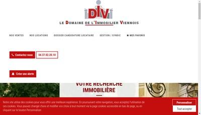 Site internet de Le Domaine de l'Immobilier Viennois