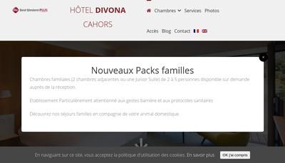 Site internet de Hotel Divona Cahors