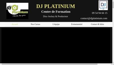 Site internet de Dj Platinium