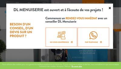Site internet de SARL Dl Menuiserie Expansion