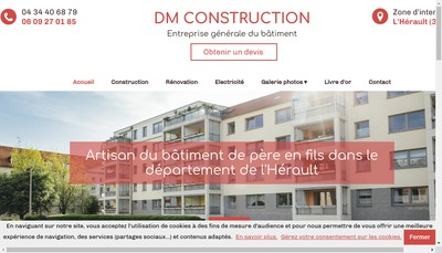 Site internet de DM Construction