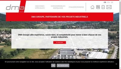 Site internet de Dma Groupe