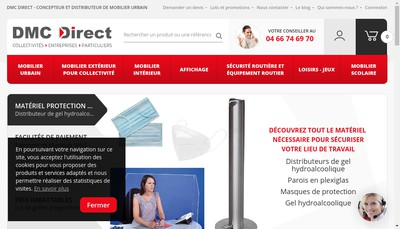 Site internet de Distribution Materiels Collectivites