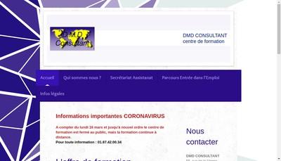 Site internet de DMD Consultant