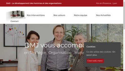 Site internet de Dmj Consultants