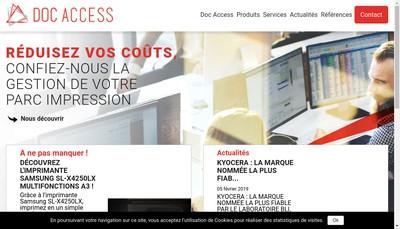 Site internet de Doc Access