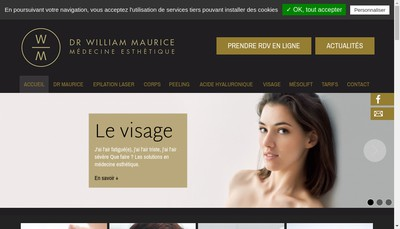 Site internet de SELARL Docteur William Maurice