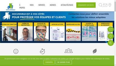 Site internet de Docuworld Nantes