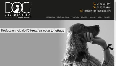 Site internet de Dog Courtoisie