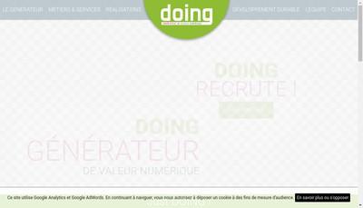 Site internet de Doing