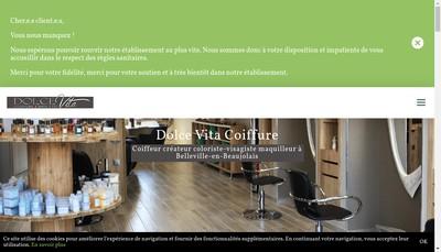 Site internet de Dolce Vita Coiffure & Bien Etre