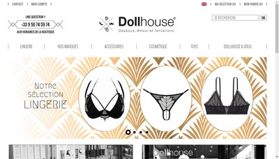 Site internet de Dollhouse - Jeux de Filles
