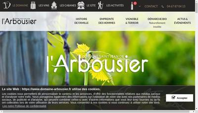 Site internet de Societe du Domaine de Saint Jean de l'Arbousier