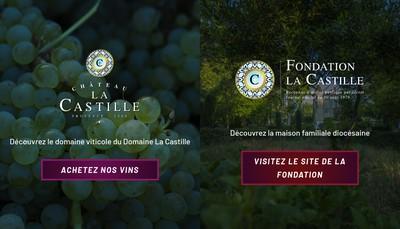 Site internet de Chateau la Castille