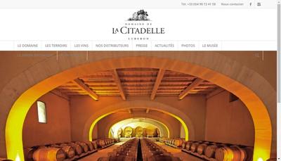 Site internet de SCEA Domaine de la Citadelle