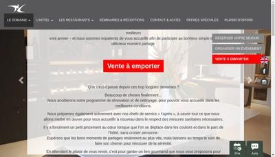 Site internet de Domaine du Colombier