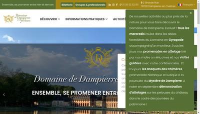 Site internet de SARL du Domaine de Dampierre
