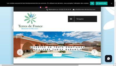 Site internet de Le Domaine de Bacchus