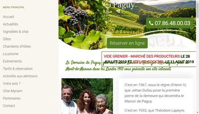 Site internet de SCEA Domaine de Paguy
