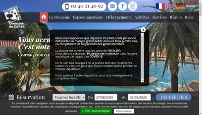 Site internet de SARL Domaine du Collet