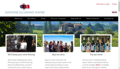 Site internet de Grand Mayne SARL