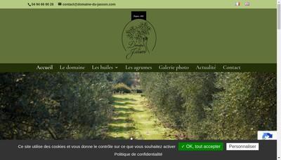 Site internet de SARL Domaine du Jasson