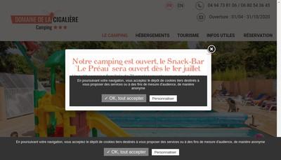 Site internet de Camping la Colle