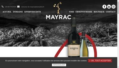 Site internet de SARL Domaine de Mayrac