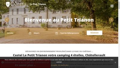 Site internet de Camping le Petit Trianon