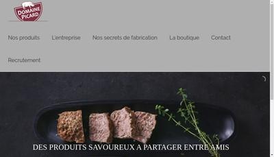 Site internet de Le Domaine Picard