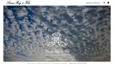 Site internet de Simon Bize et Fils