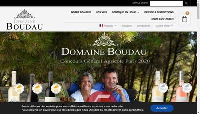 Site internet de Domaine Boudau