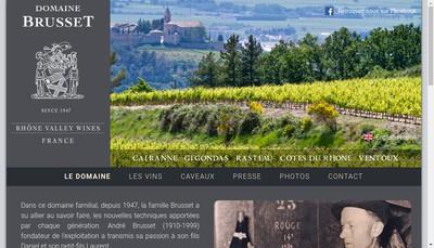 Site internet de Brusset