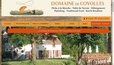 Site internet de Le Domaine de Coyolles