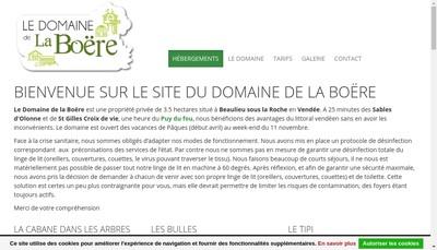Site internet de Le Domaine de la Boere