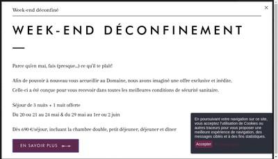 Site internet de Le Domaine de la Corniche