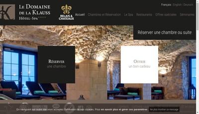 Site internet de Domaine de la Klauss