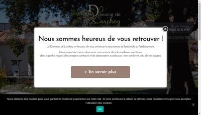 Site internet de Domaine de Larchey