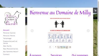 Site internet de Pension du Domaine de Milly