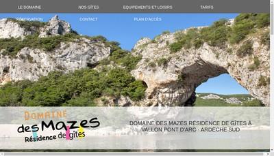 Site internet de Domaine des Mazes