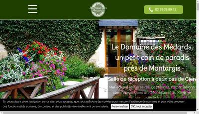 Site internet de La Ferme des Medards